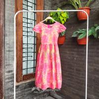 Baju Dress Batik Anak Perempuan Arista Usia 6th/8th/10th
