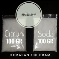 Racikan bahan Cisod 100 gram - citrun plus baking soda untuk co2 diy