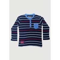 Osella Baju Anak Laki-Laki Lengan Panjang Stripe Black