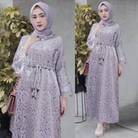 Gamis Brukat Kualitas Premium / Gamis Ukuran Besar / Baju Pesta Muslim