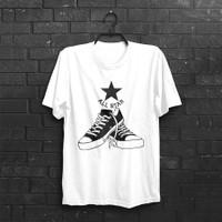 Baju Kaos pria Converse All Star 100% katun combad - S