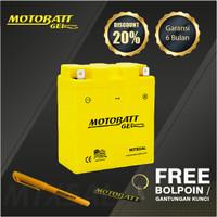 Motobatt Gel Mtx5Al - 5Ah - Garansi 6 Bulan, Free Kaos