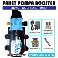 PAKET POMPA BOOSTER SHOWER WATER HEATER TOREN - HIU DRAT - S DRAT LUAR