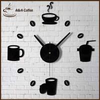 A&A JAM DINDING BESAR TEMPEL DIY GIANT WALL CLOCK MODEL KOPI CAFE