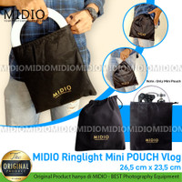 Midio Mini Pouch Vlog Kit / Tas Lensa / Tas penyimpanan Ringlight LED