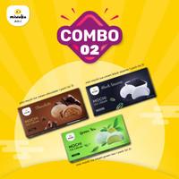 Combo 2 - Mochi Ice Cream - Mix Black Sesame + Green Tea + Choco Halal