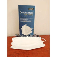 Masker Earloop Cantol Telinga Convex 4ply Resources PCS Putih