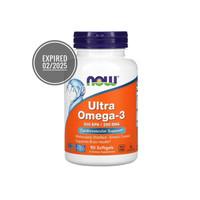 NOW Foods ULTRA Omega 3 500EPA 250DHA 90 dan 180softgels Fish Oils