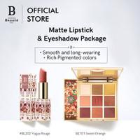 Lipstik+Eye shaow Premiere Beaute Batik Long-lasting Matte Velvet