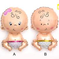Balon foil baby girl / boy baby shower kado lahiran
