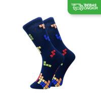 Kaos kaki anak 3-5 tahun Motif Tetris - Game Legendaris, Katun Premium