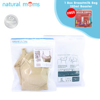 Nursing Bra Natural Moms - Bra New V - FREE KANTONG ASI 120ML