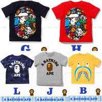Kaos Bape Bathing Ape Anak Cowok Impor ukuran 4-13tahun