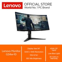 "Lenovo Monitor G34w-10 Res 3440x1440 350 nits 34"""