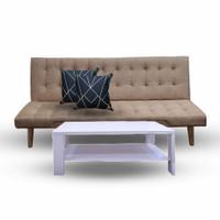 Sofabed Paket Minimalis Modern Murah Jenny Adjust JABODETABEK - Coffe Brown