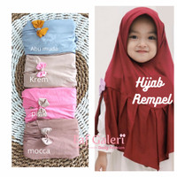 Rempel Hijab 2-5 Thn - Kerudung Bergo Instan Anak Muslim