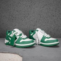 Off White Out Of Office Low Top Sneakers Man White Green