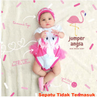 Baju Bayi Perempuan Jumper Bayi Lucu Duo Swan