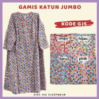 Gamis Katun Jumbo Siu Lie XL / Baju Tidur Long Dress Wanita - Gamis Jumbo