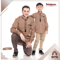 Baju koko couple ayah anak lengan panjang Sulaiman Original by Arra