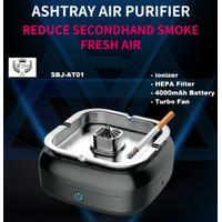 SBJ Ashtray Air Purifier Penyaring Asap Rokok HEPA Ionizer 4000mAh
