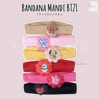 BANDANA BT21 PRINTING - Bando Cuci Muka Handuk Facial Kerut Bulu Halus