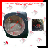 Box Sudut Bahan MDF 18mm Subwoofer Audio Mobil 12 Inch Honda CRV Turbo