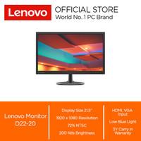 """Lenovo Monitor D22-20 21.5"""" HDMI VGA"""