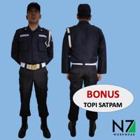 SERAGAM PDL SATPAM SECURITY Pria - GRATIS ATRIBUT- KUALITAS PREMIUM