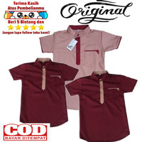 Baju Koko Anak Laki-Laki Polos Usia 1-12 tahun bahan KATUN TOYOBO
