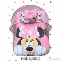 Kasur kelambu bayi premium - pink minnie