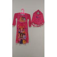 Baju Muslim Anak Gamis Princess Disney Pink