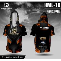 Jersey hoodie mobile legends bang bang baju ml kaos game - Hitam, XS