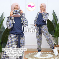 Viola by Shayla - Setelan Baju Anak Remaja Perempuan / Set Kaos Celana