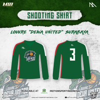 Shooting Shirt Louvre Dewa United - GREEN ( Custom Number Available )