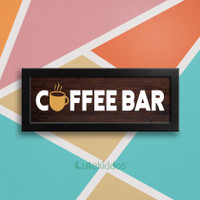 Wall Decor Rustic Tulisan Coffee Bar Sign Poster Hiasan Dinding Dapur