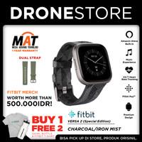 Fitbit Versa 2 Smartwatch Special Edition Garansi Resmi 1 Tahun - Charcoal Mist