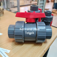 Ball Valve True Union PVC / Stop Kran Watermur 1/2 inch DN15