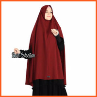 Set Khimar Syari Handsplit Non Pad Cadar Tali Wolfis Premium Alsyahra