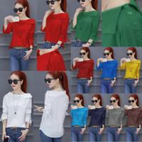 Birdy red XL LD103/atasan/baju/blouse/wanita/bigsize/jumbosize/murah