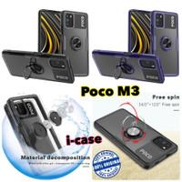 case Xiaomi Poco M3 HYBRID iring Stand Clear pocho m3 soft hybrid ring