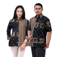 Batik Wanita Lengan Panjang Blouse Atasan Modern Batik Dua Putri