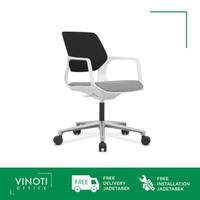 Kursi Kerja / Belajar VINOTI Office Vila Hitam Abu Abu