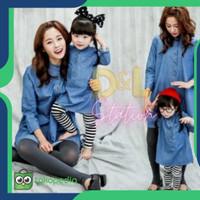 Baju Gamis Couple Keluarga Ibu & Anak Perempuan