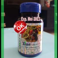 Zinc Tablet For Children Zinc Anak Green World - Penambah Nafsu Makan