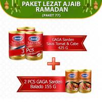 GAGA Sarden Saus Tomat 425g dan GAGA Sarden Balado 155g (GG77)