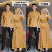 Baju Couple import Untuk Lebaran/Pesta Model Terbaru Kualitas Premium - Mustard, S/M