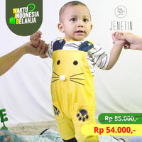 Setelan Bayi Anak Laki 6-12 bulan/ stelan overall baju kodok gajah