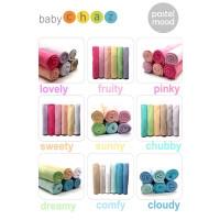 Baby Chaz PASTEL Mood Swaddle / Bedong Kain Bayi Pastel (6pcs/pack)