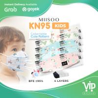 VIPBAZAAR EVO Anak Motif KN95 Masker Kesehatan wajah Kids 4ply BNPB